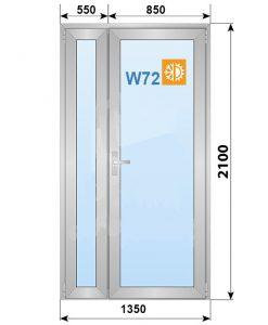 алюминиевая дверь w72